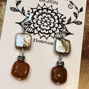 Casey Keith Design Jewelry - Pearl & Aventurine Earrings